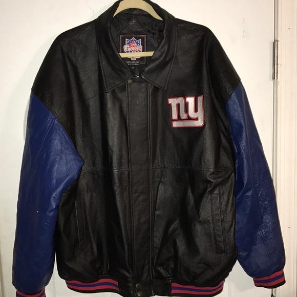 923013c56 Men s genuine leather NFL New York Giants jacket. M 5a3ddd5a8df470c7e403fbb9